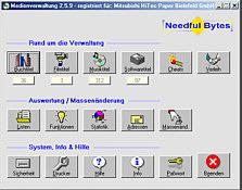 Screenshot vom Programm: Medienverwaltung